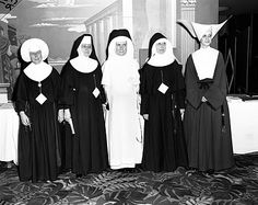 remember the nuns.    Adrian Dominican (white);  Daughters of Charity (right);   Sisters of Notre Dame (South Bend - left)