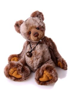 Tony — — Code Collection Charlie Bears Plush Collection Year 2011 Height in bear paws 16 Plush Animals, Felt Animals, Bear Character, Charlie Bears, Boyds Bears, Bear Paws, Cute Teddy Bears, Bear Doll, Rope Necklace