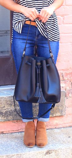 1d9272124e6c We are OBSESSING over this new Monogrammed Bucket Bag made of 100% genuine  structured leather