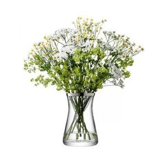 Vase, Flower Gemischtes Bouquet Platinfarben ($68) ❤ liked on Polyvore featuring home, home decor, vases, clear glass vases, colored vases i hand-blown glass vases