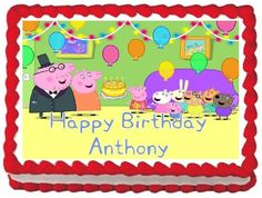 Peppa Pig Edible Frosting Sheet Cake