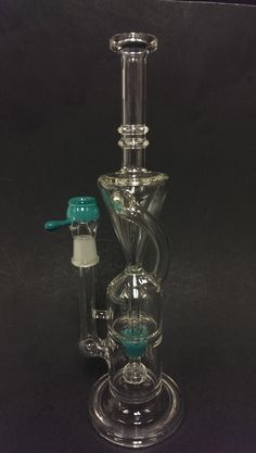 "XTI016 - Blue 10.5"" Recycle Glass Oil Rig"
