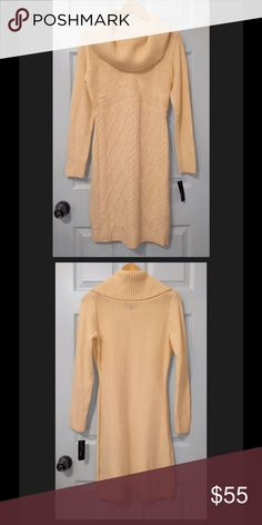 Alyx Cowl Neck Ivory Sweater Dress Lovely ivory thick knit, cowl neck, sweater dress. Fitted styling. Size: Small Alyx Dresses