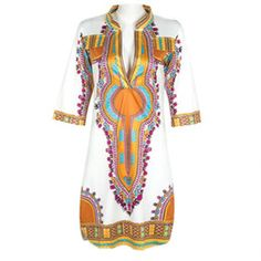 Wholesale New Women Traditional African Print Dashiki Bohemia Bodycon Sleeve Dress Autumn Causal Women Clothing Hot Sale