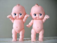ONE Vintage Kewtie Kewpie Doll 8 TaLL Rubber Baby Doll by 30one