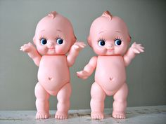 ONE Vintage Kewtie Kewpie Doll 8 TaLL Rubber Baby Doll by 30one