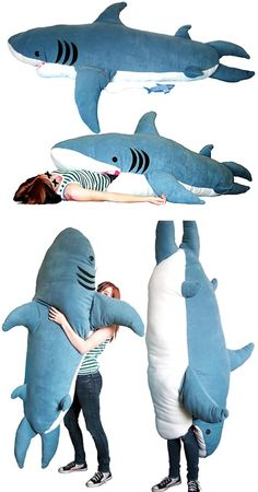 'Chumbuddy'...shark sleeping bag and body pillow.