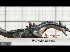Tabla de tamaños de los monstruos de Monster Hunter 3 (Tri) G - YouTube