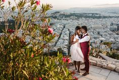 A Honeymoon Photoshoot in Athens, in some of our favourite places in the old region underneath Acropolis. This will make you dream of the Greek islands! Greece Honeymoon, Greece Wedding, Athens Greece, Beautiful Couple, Greek, Photoshoot, City, Amazing, Flowers