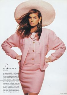supermodelshrine: Cindy C in Chanel by Patrick Demarchelier, 1988 #pink