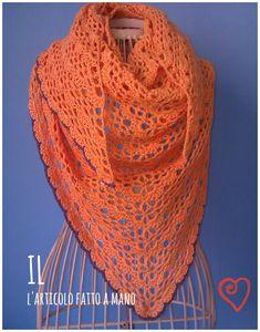 sciarpa triangolare in cotone con schema