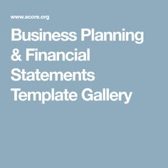 Financial Statements Financial Budgeting  Financial Statements