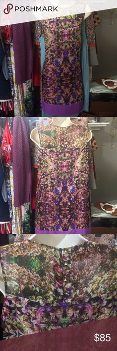 Ted Baker Floral Silk Watercolors Dress Beautiful bright and so Sheer and lightweight. Ted size 2 which is a US 6 Ted Baker Dresses