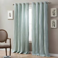 Product Image for Linen Crinkle Grommet Top Window Curtain Panel 1 out of 1