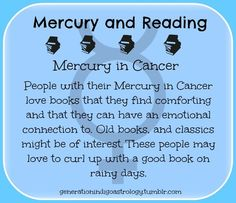 Mercury and reading, Mercury in cancer Astrology Planets, Astrology Zodiac, Zodiac Signs, Cancer Horoscope, Cancer Astrology, Horoscopes, Leo Rising, Cancer Moon, Cancerian