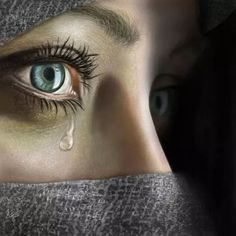 ''Sadness'' Painting By Alberto Perucha Cute Kids Photography, Eye Photography, Artistic Photography, Beautiful Eyes, Beautiful Pictures, Beautiful Hijab, Sad Paintings, Crying Eyes, Emotional Photography