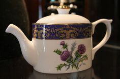 Thistle teapot http://www.kincardinescottishshop.ca/images/gifts/fiftydown/thistle_teapot.jpg