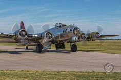 """Fotka: Yankee Lady heading out  If you enjoy the """"Aviation Photography by John Chvatal"""" collection, you may enjoy some of these other collections from Gazing Skyward TV: http://gstv.us/GSTVcollections  Pin it for later:  #avgeek  #aviationphotography  #warbird  #ww2  #Boeing  #B17  #FlyingFortress  #Minnesota"""