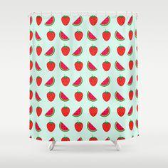 Fresh Fruits Shower Curtain