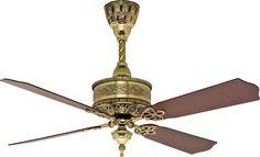"Casablanca 99U69Z, 19th Century Burnished Brass 54"" Ceiling Fan with Wall Control"