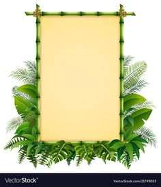 Green bamboo frame on the leaves vector Boarder Designs, Frame Border Design, Page Borders Design, Old Paper Background, Flower Background Wallpaper, Flower Backgrounds, Bamboo Wallpaper, Framed Wallpaper, Cadre Design