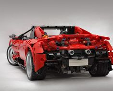 LEGO McLaren 675 LT Spider (red version) - building instructions and parts list. Lego Racers, Lego Moc, Lego Technic, Lego Sets, Sport Cars, Legos, Spider, Red, Supercars