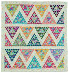 Painted Mountains quilt, in: Hexagons, Diamonds, Triangles, and More by Kelly Ashton (December 2015)