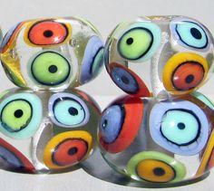 Mod Spot BallsHandmade Lampwork Beads by beadygirlbeads on Etsy, $63.00