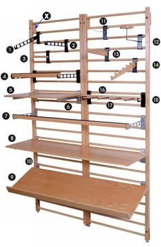 Wooden Dowel Display System Diagram :: Dowel Fixtures :: Store Fixtures :: Allen Display