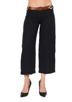 52d13407028f1 Women s Bailey 44 Gilligan Linen Cropped Pant In Navy Size Xs