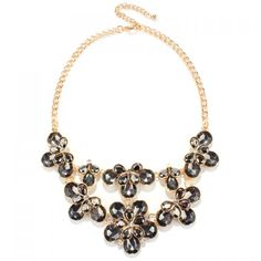 Charming Faux Crystal Floral Water Drop Necklace Jewelry For Women #CLICK! #clothing, #shoes, #jewelry, #women, #men