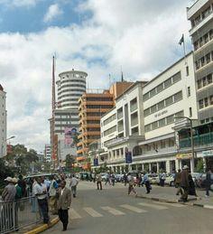 Street scene, Nairobi, Kenya Paises Da Africa, East Africa, Cities In Africa, Nairobi City, Dar Es Salaam, Kenya Travel, Exotic Places, City Landscape, Modern City