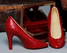 Chocolate Louboutins you can eat!  Delicious Belgian Chocolate shoes.  Unique gift for the woman who loves shoes and chocolate! www.azrachocolates.co.uk