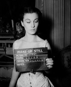 Make-up still photo of Vivien Leigh on the film Gone with the Wind, 1939