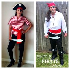DIY Halloween costumes  sc 1 st  Pinterest & Easy Homemade Pirate Costume | Pinterest | Homemade Costumes and Easy