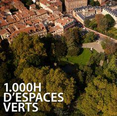 1.000 hectares d'espaces verts, soit 160 jardins et parcs ainsi que 400 hectares de zones vertes aménagées. Sans compter les tondeuzes à gazon...