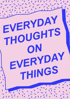 Salle des machines | Everyday Thoughts On Everyday Things | http://salledesmachines.fr