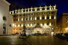 The Grande Hotel, Rome  Minerva Square - The hotel facade