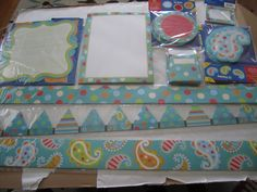 Various turquoise dots pics for the class