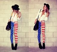 I LOVE those leggings for the fourth of July