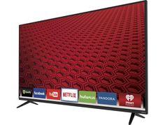 "VIZIO - E-Series 50"" Class (49.5"" Diag.) - LED - 1080p - Smart - HDTV - Black - Left Zoom"