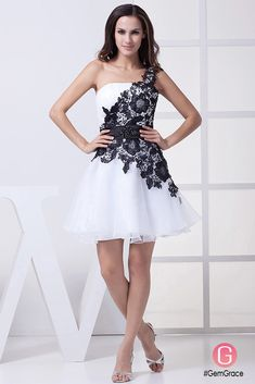 Only $124.9, Special Occasion Dresses One Shoulder Lace Navy Blue and White Puffy Prom Dress Short #OP4386 at #GemGrace. View more special Special Occasion Dresses,Prom Dresses,Homecoming Dresses now? GemGrace is a solution for those who want to buy delicate gowns with affordable prices, a solution for those who have unique ideas about their gowns. 2018 new arrivals, shop now to get $10 off!