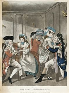 Young Recruits, Training for the Camp. 1781