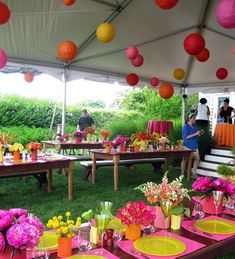 A Summer Hobbit Party with lots of colours #Hobbit #Middle-earth