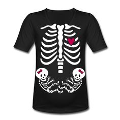 halloween costume pregnant with twins skeleton.  That would have been cool!!