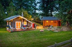 O saunowisku   Drewniany dom letniskowy i sauna nad jeziorem na wynajem na Kaszubach / domki nad morzem / domki Kaszuby