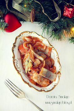 Pin on przepisy Polish Christmas, Polish Recipes, Food Inspiration, Seafood, Salads, Food And Drink, Favorite Recipes, Fish, Dinner