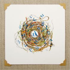alphabet spelling bee nest art pencil school by atticEditions
