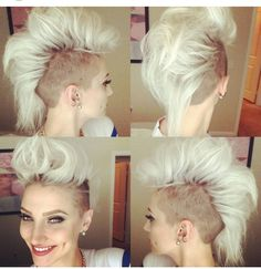 Blonde mohawk, not pinning this one because I would do it but because I think it looks rad