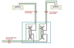 Picture of how to wire a light switch electrical how do i wire a change out light switch from single switch to double switch need to install 2 switches to control 1 can each out of 4 cans asfbconference2016 Choice Image